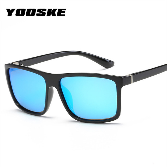a035d608e7 YOOSKE Men Polarized Sunglasses Famous Brand Designer Driving Sun Glasses  Mens Rectangle UV Protection Eyeglasses