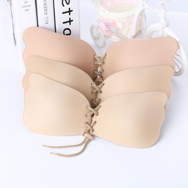 9ed84a747c203 New Silicone Push-Up Strapless Backless Self-Adhesive Gel Magic Stick  Invisible Bra Black