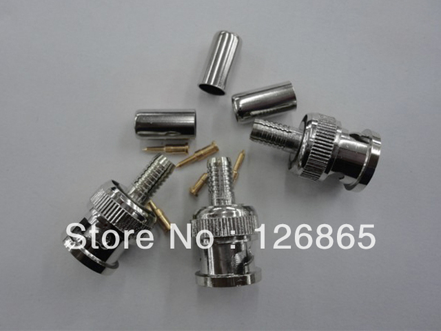 Special offer RG59 BNC connector press coupling plug RG59 BNC male 3 is 300 PCS