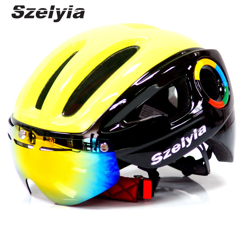 2017 Szelyia Cycling Helmet glasses M Mtb Mountain Road Bike Bicycle Helmet 3 lens visor Cascos mtb bicicleta Ciclismo bike topeak outdoor sports cycling photochromic sun glasses bicycle sunglasses mtb nxt lenses glasses eyewear goggles 3 colors