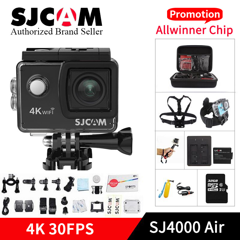 SJCAM SJ4000 caméra d'action WIFI AIR 4 k 1080 P Full HD 4 K 30fps WiFi Sport DV Mini caméscope pro yi 4 k caméra VS h9r sj8 sj6 camara