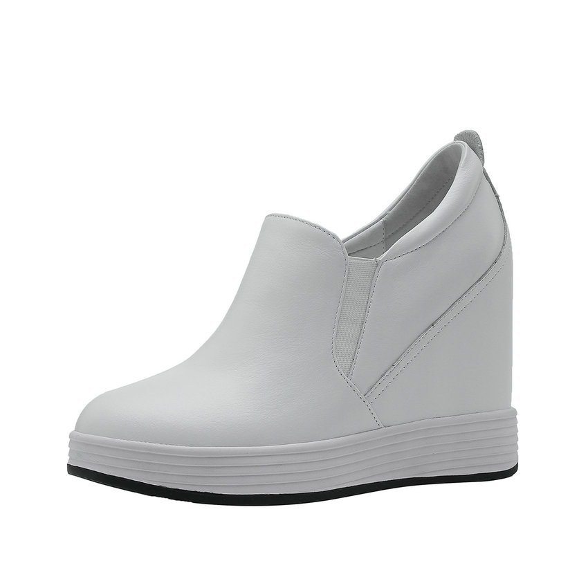 Chaussures 2019 Noir Éclair Pompes Rond Mode Pu Cuir forme Décontracté Vache Femmes Taille 34 Fermeture Plate 39 Match blanc Pour Qutaa Tout Bout De En d5PxZnd