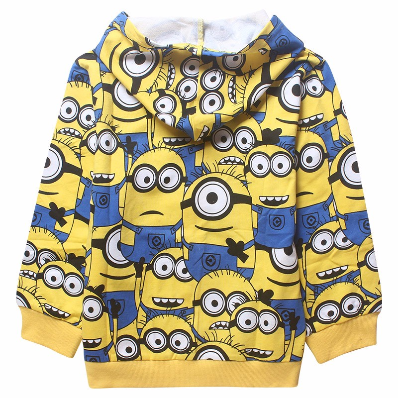 Minions boys clothes girls t shirts for kids clothing toddler in children Spring hoodies costume sweatshirts cartoon sweater