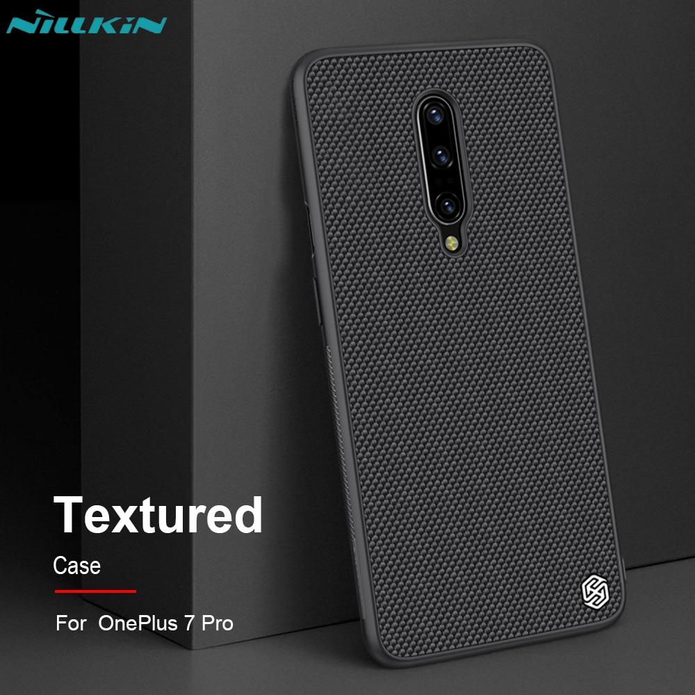 Oneplus 7 Pro Fall Nillkin Strukturierte Luxus Business Nylon Faser Abdeckung Fall Für Oneplus 7 Pro Bumper Thin Durable Nicht -Slip