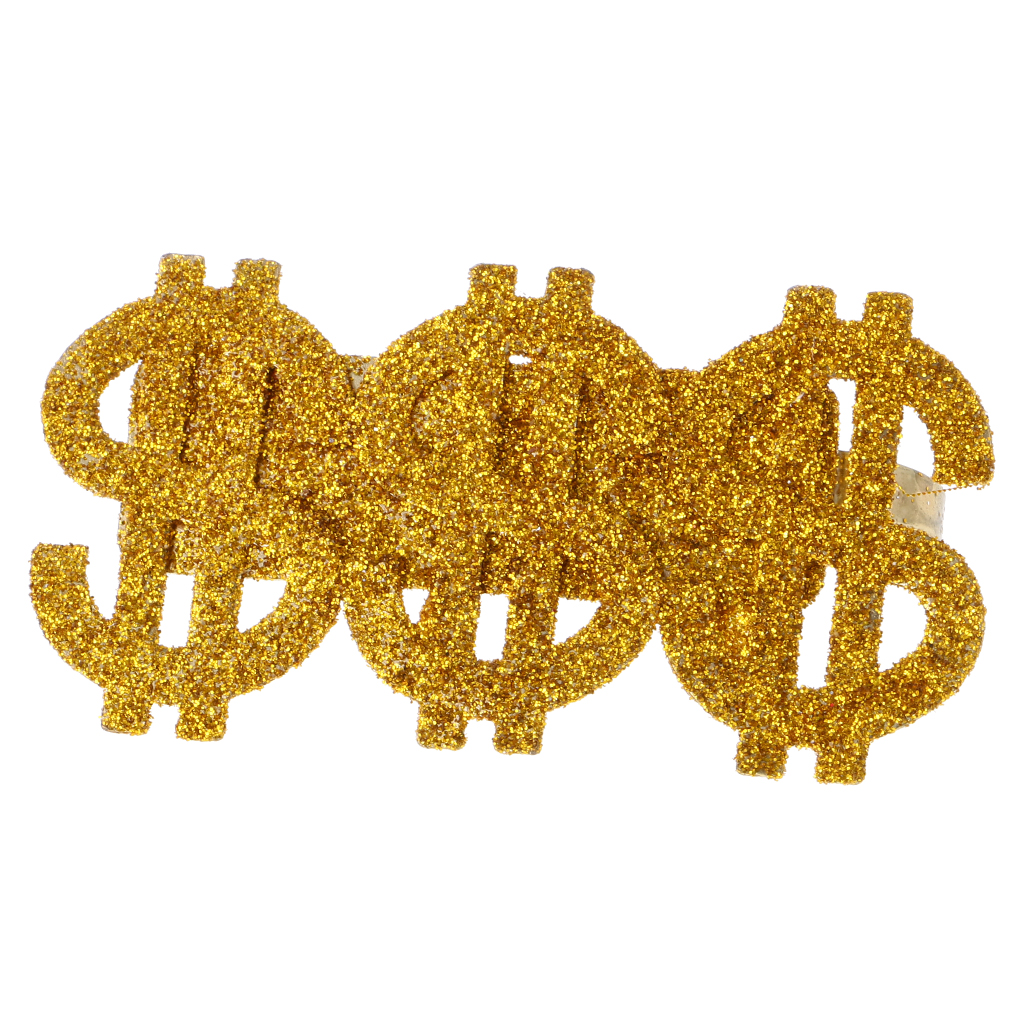 Dollar Sign Pimp Cane Prop Costume Accessory Gold Money Gangster 70s Halloween