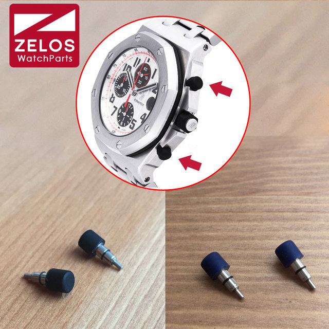 rubber steel waterproof watch push press button for AP ROYAL OAK OFFSHORE chronograph watch 26170ST.OO.D305CR.01 25940OK.OO.D002