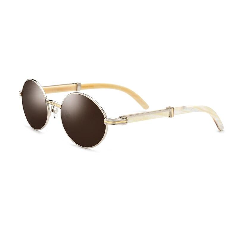 Naturel Corne Homme lunettes de Soleil Polarisées UV400 Lunettes Pour Hommes Vintage lunettes de Soleil Avec la Boîte, Cas Taille: 55-20-145mm
