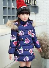 ГОРЯЧАЯ! 2017 новый Высокое качество девушки мода зимняя куртка утолщение cuhk детский пальто досуг хлопка-ватник
