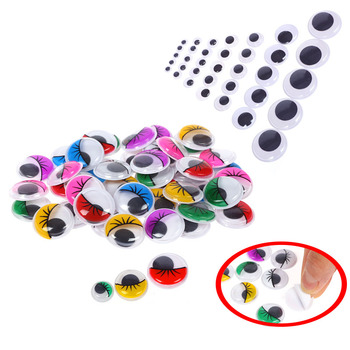 цена на Self-adhesive Doll eyes 6mm/8mm/10mm/12mm/15mm/18mm/20mm/25mm/35mm Doll Eye For Toys Dolls Googly Eyes Used For Doll Accessories