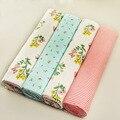 Новый цвет 100x76 см 100% хлопок фланель детское одеяло 4 шт./упак. прием новорожденных красочные cobertor детские простыня