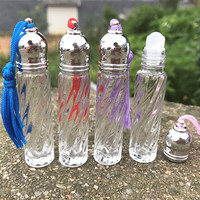 3ML 10 30 50pcs Empty Glass Roll On Perfume Bottle Clear Vial Cosmetic Essential Oil Refillable