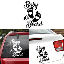 Cute Baby On Board Car Stickers And Decals Carbon fiber Sticker For Truck Window Auto Body Vinyl Decoration Accessories(China)