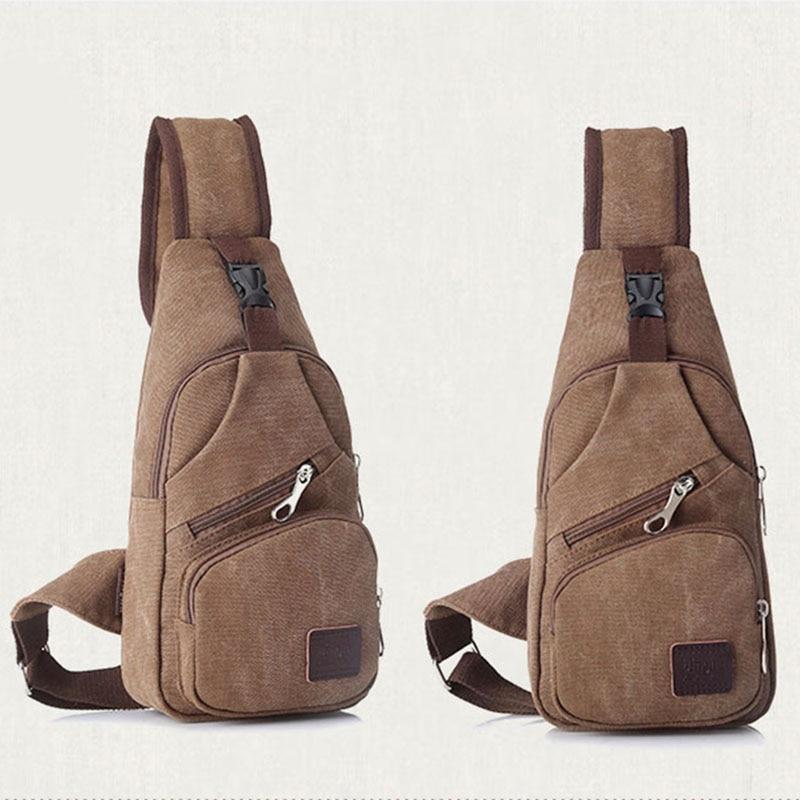 Sports & Entertainment Gym Bags 5 Colors Sling Vintage Bag Canvas Chest Pack Men Messenger Bags Travel Fanny Flap Male Small Retro Single Shoulder Strap Gym Bag