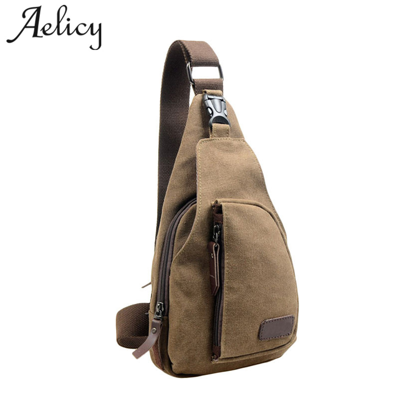 Aelicy Canvas Crossbody Bags for Men Messenger Chest Bag Pack high quality brand Single Shoulder Strap Pack 2017 3 Colors 1006