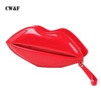 2017 Korean Version Of The Summer New Personalized Lips Clutch Bag Handbag Bag Chain Shoulder Bag