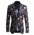 New Arrival Men Fashion Dress Blazer Slim Fit High Quality Men Casual Brand Suit Long Sleeve David Pattern clothing