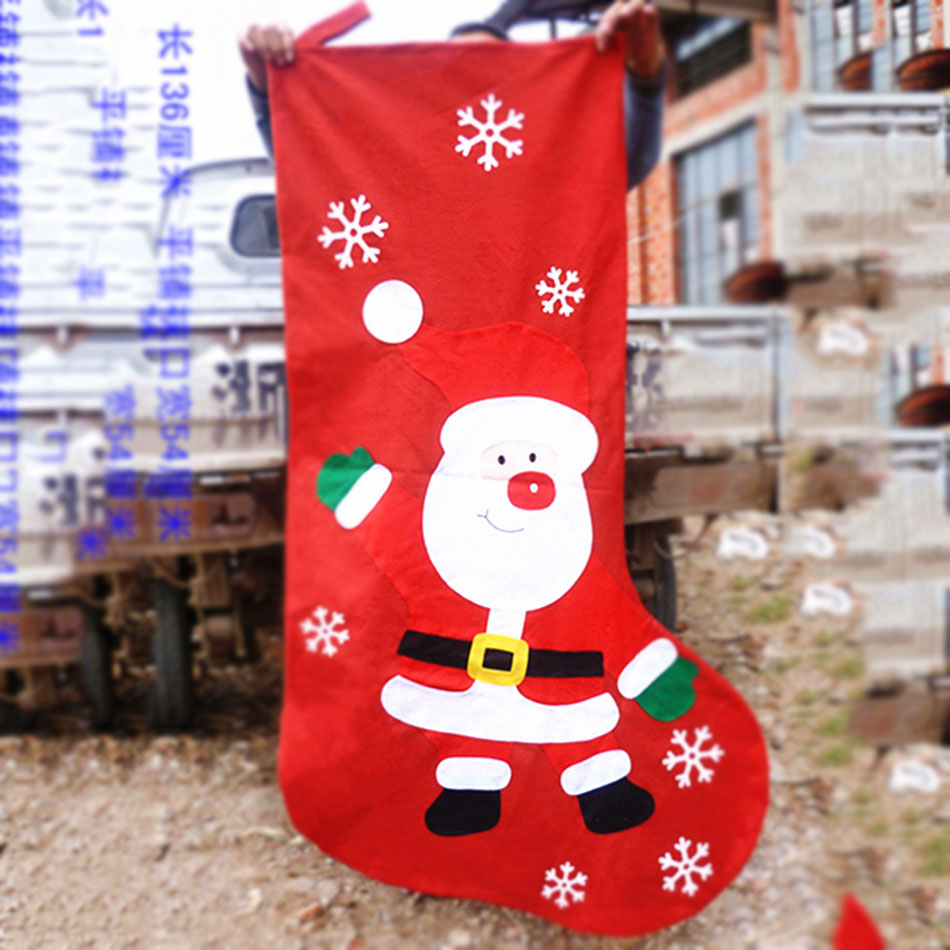 US $15.2 20% OFF 136cm/ 54 inch 78cm/30.7 inch santa claus Oversized large  big hanging Christmas Stocking children gift bag-in Stockings & Gift ...