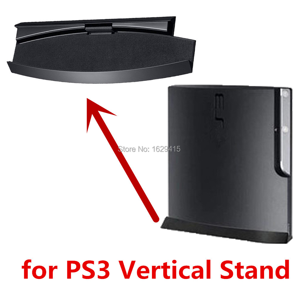 Vertical Stand For Sony Playstation 3 PS3 Slim CECH 2000 3000 Series Console Anti-Slip Classic Mount Dock Holder Base Protector