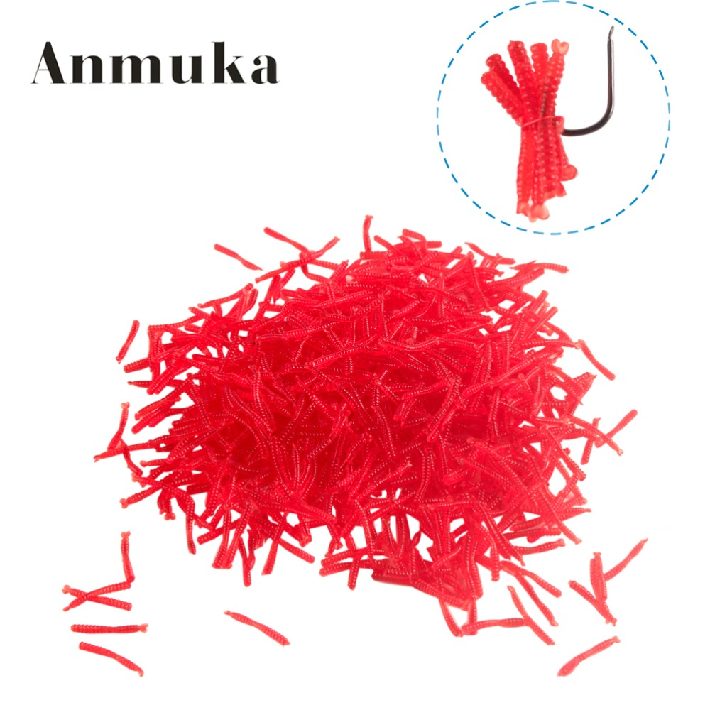Anmuka hot-selling 200pcs Smell red worm lures 2cm soft bait carp fishing lure set artificial fishing tackle FREESHIPPING 50pcs new wifreo soft lure loader locker connector fishing worm hook bait accessories for bass fishing wholesale