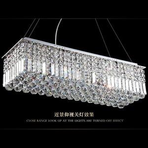 Image 4 - LED מודרני מלבני קריסטל נברשת אור תליון מנורת תליית סלון אוכל חדר מסעדת קישוט