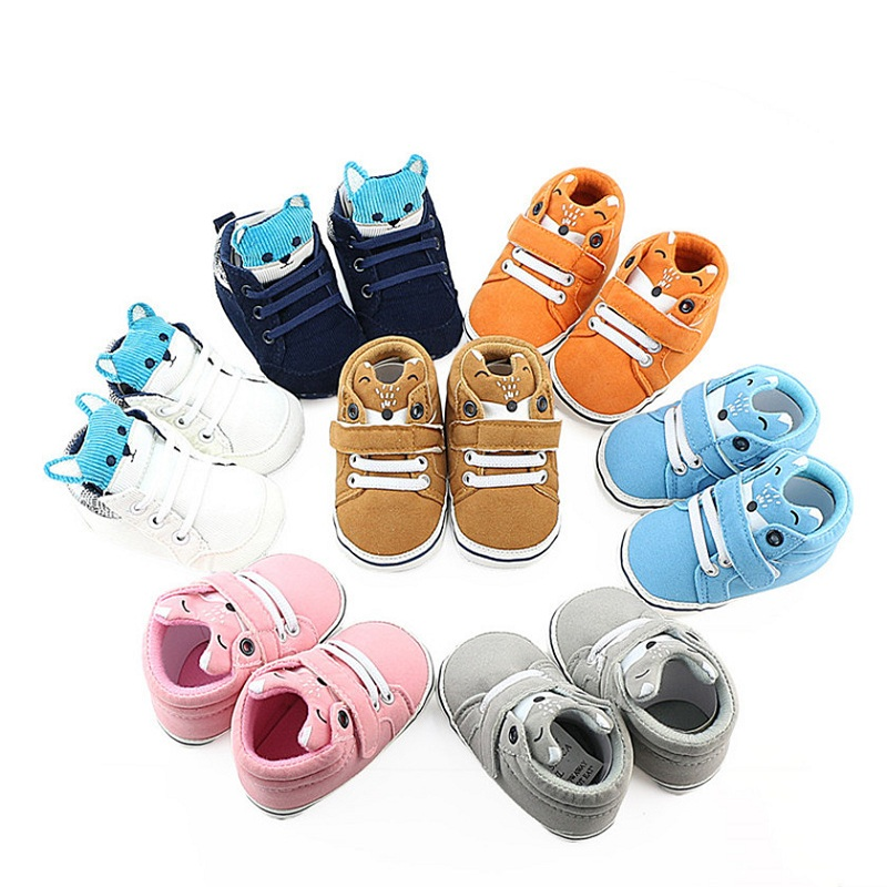 Cartoon Soft Sole Baby Shoes Casual Non-Slip Infant Shoes Toddler Fox First Walkers Baby Sneakers