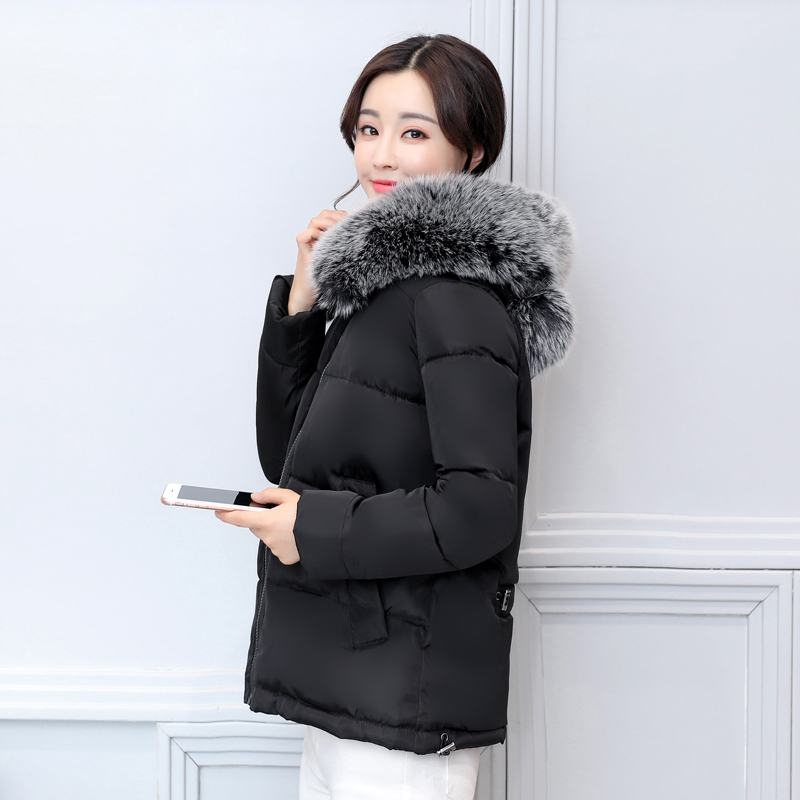 93a4a779878d JOLINTSAI Women Winter Short Coat Hooded Fur Collar Warm Parkas Jackets  Female Outerwear Padded Ladies Jacket Chaqueta Mujer-in Parkas from Women's  Clothing ...