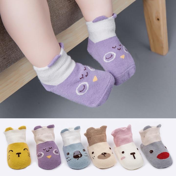 5pairs Baby Socks Anti Slip Sokken Kinderen Boy Girl Non-slip Socks For Children Cotton Baby Accessories Baby Stuff For Newborns