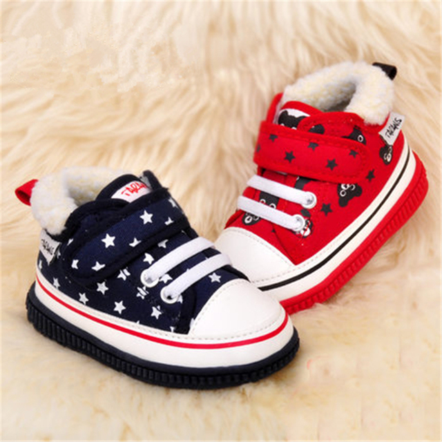 Fashion Baby Shoes First Walkers Boy Shoes Sports Baby Footwear Anti Slip Cotton Cute Baby Shoes Girls Winter Warm 70A1049