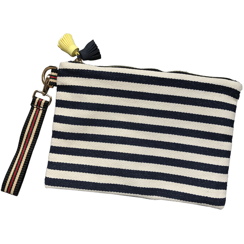 Canvas Purse Envelope-Bag Small Bags Mini Handbag Striped Clutch Fashion Female Casual
