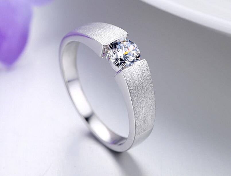0.5 carat diamond ring creative models simple engagement wedding men and women couple ring (JSA)