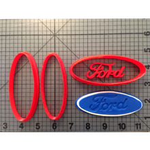 Automotive Logo Series Cookie Cutter 3D Printed Set Ford Cake Decorating Tools Fondant Cupcake Top Biscuit Cutters