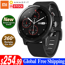 Xiaomi Amazfit 2  Smart Watch with GPS Watches PPG Heart Rate Monitor 5ATM Waterproof