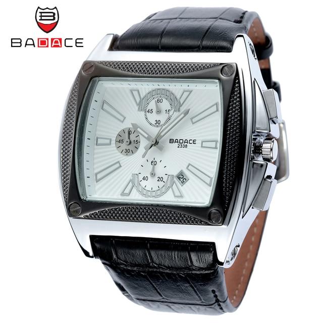 BADACE Classic Men Quartz Watches Top Brand Business Casual Wristwatch Male Japan Movt Leather Strap Watch Hour 2338 Mens Bracelet Watch
