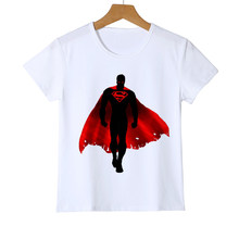 Baby mädchen t-shirt 3D Superman logo personalisierte druck kinder T-shirt sommer Batman Tops T-shirts Crossfit Top Tees Z35-10(China)