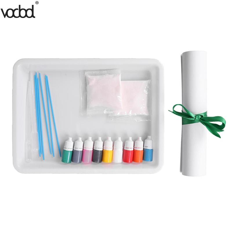 DIY Painting Pigment Set Children Water Extension Paint Non-toxic Art Painting Float for Kindergarten Parent-child Drawing
