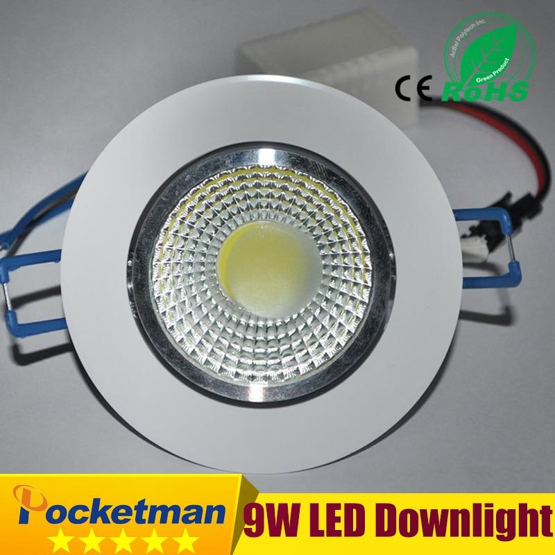 1 Stück Neueste 9 Watt Led-chip Cob Led-deckeneinbauleuchte Downlight Spot Lampe Weißes Licht Weißes/warmes Epistar Led-lampe Der Preis Bleibt Stabil