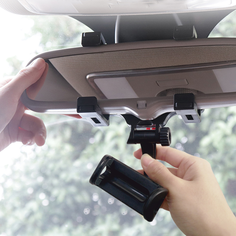 how to install car phone holder on rear mirror