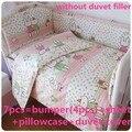 Promoção! 6 / 7 PCS conjunto de cama / algodão berço cama, Cunas ajuste, Boa qualidade, 120 * 60 / 120 * 70 cm