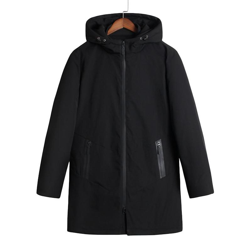 Plus size 10XL 8XL 6XL 5XL 4XL 2017 Mens Winter Zipper Stand Simple Hooded Winter Jacket Men Cotton-padded clothes loose cotton