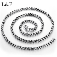 L&P Classic 100% 925 Sterling Silver Chain Necklace For Women Men Fashion Necklace Wholesale Fine Jewelry Party Gift