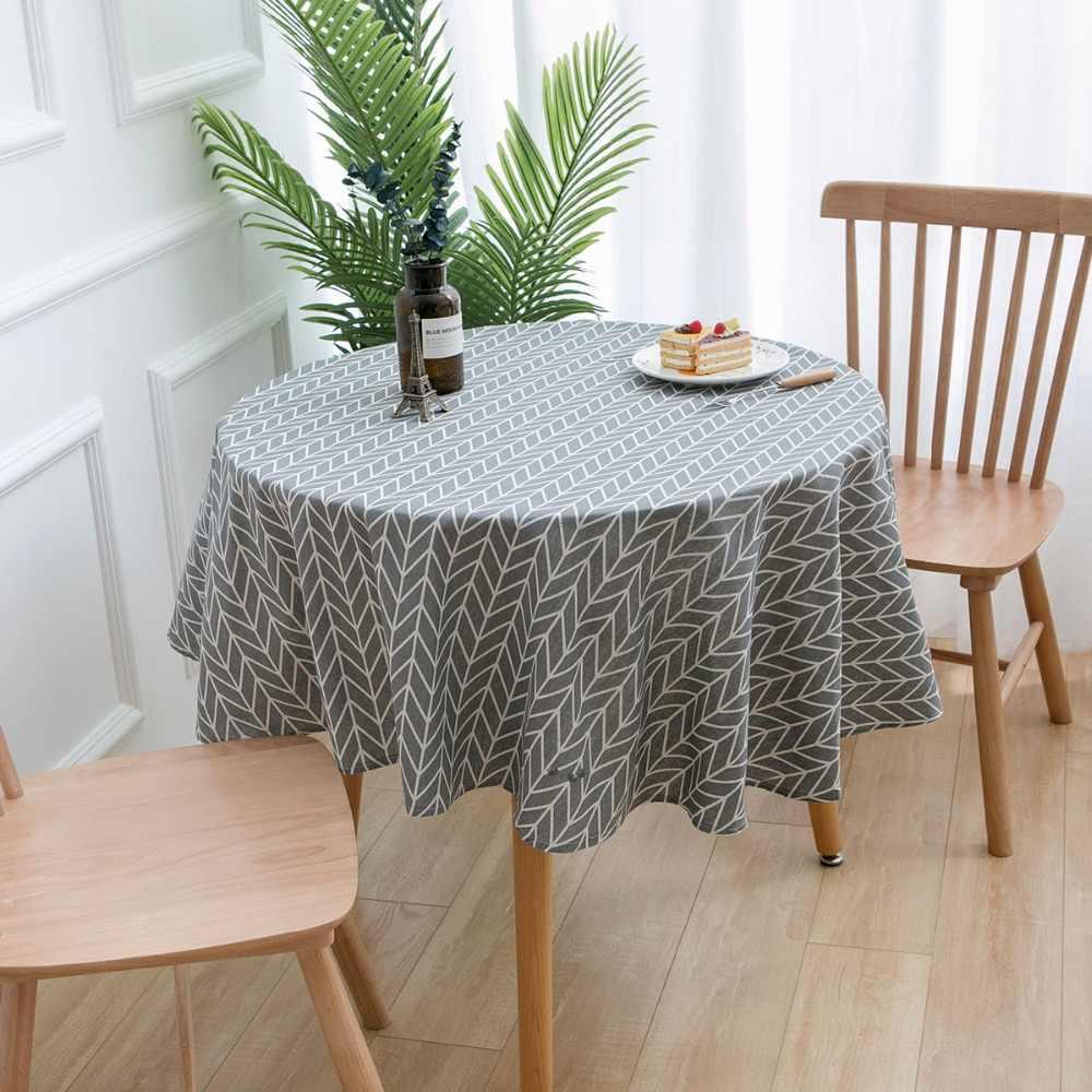 Круглая круглая ткань для стола скатерть, настольная дорожка покрытие стола вечерние свадебные скатерти для украшения домашнего стола мантель домашний текстиль