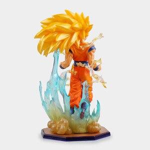 Image 3 - Anime Dragon Ball Super Saiyan 3 Sohn Gokou PVC Action Figure Sammeln Modell Spielzeug 18cm KT2841