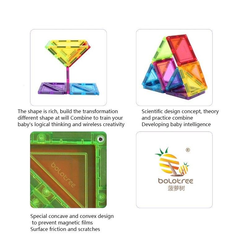 Color window magnetic childrens magnetic building blocks 13Pcs color transparent puzzle puzzle toy magnet Thirteen clever board