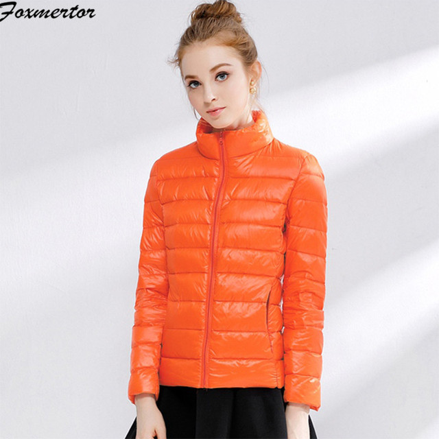 72cc06a43cb49 Women Winter Coat 2018 New Ultra Light White Duck Down Jacket Slim Women  Winter Puffer Jacket Portable Windproof Down Coat 4XL