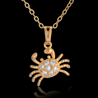 Chokers Collares Superman Hip Hop Gold Chain Crab Pendant Necklace Women Wholesale Animal Jewelry Gold Color Kpop Necklace