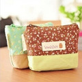 New Style Korean women small Coin purse with floral Cotton cloth womens wallets and purses small with zipper