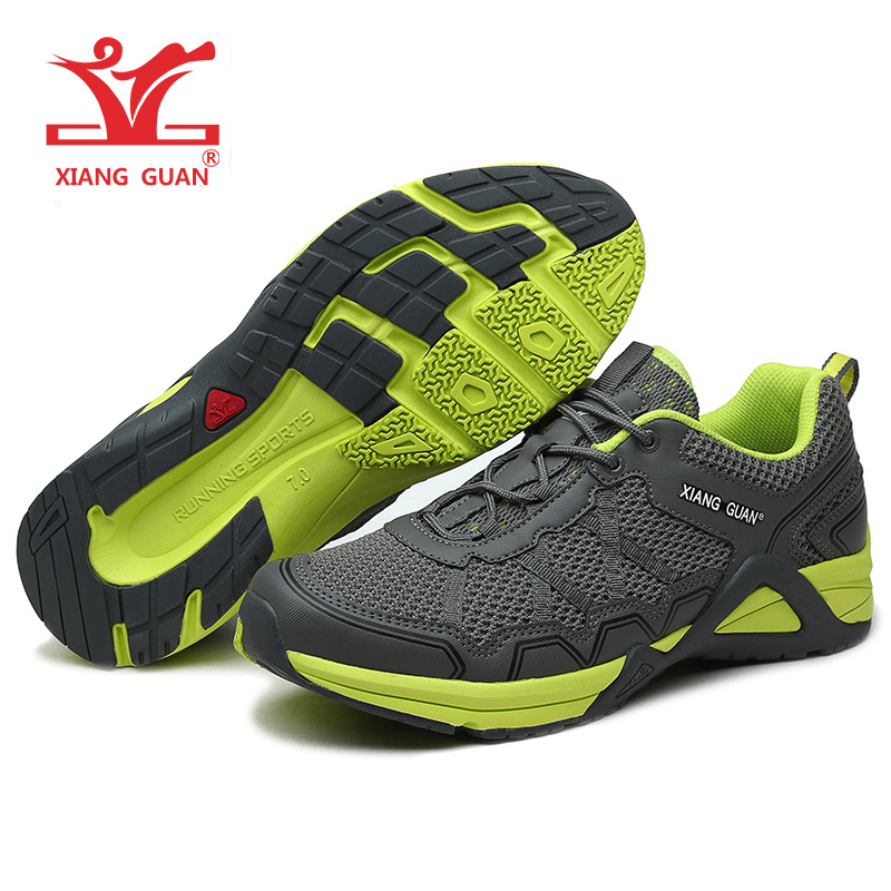 Xiang Guan brand 2017 summer Anti-skid breathable mesh outdoor athletic sneakers men and women's sport running shoes size 36-45 2017brand sport mesh men running shoes athletic sneakers air breath increased within zapatillas deportivas trainers couple shoes