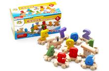 Free shipping, wooden early intellectual toys, digital small train, train digital, children's educational toys стоимость