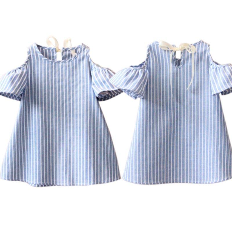 Newest-Kids-Girl-Princess-Dress-Summer-Striped-Short-Sleeve-Mini-Dresses-Infantil-Children-Vestidos-2