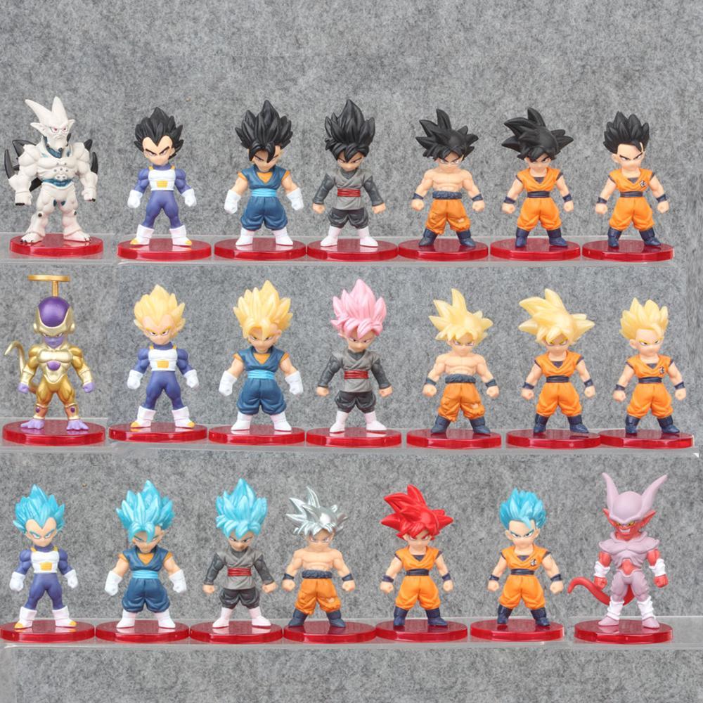 52styles Pvc Amine Figma Mini Dragon Ball Z GOKU Golden FRIEZA GREAT VEGETA Zamasu APE Vinyl Action Figure Collectible Model Toy
